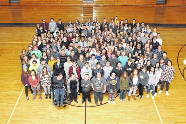 "The Buckeye Valley Class of 2020. A majority of the class has been ""adopted"" by the ""Buckeye Valley Adopt a Senior"" group."