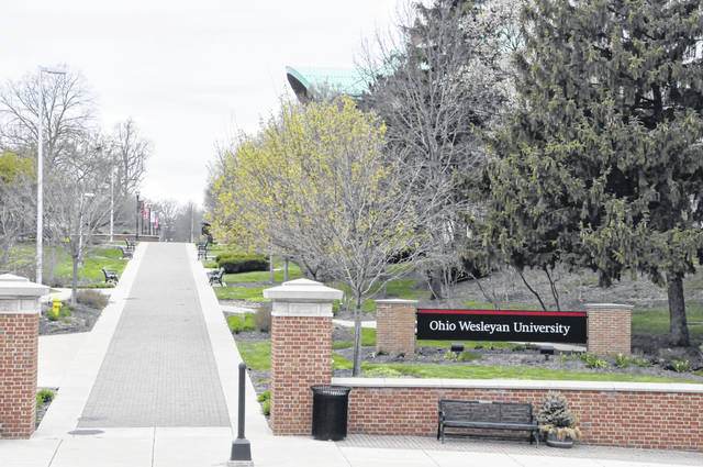 The JAYwalk at Ohio Wesleyan University has remained eerily empty since on-campus classes were canceled in March due to the COVID-19 outbreak.