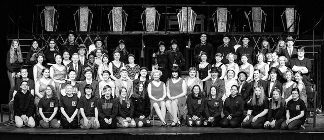 "The cast of ""Chicago"" poses for a photo during dress rehearsals for the show. The show was supposed to be performed March 19-21, but it was canceled due to COVID-19."