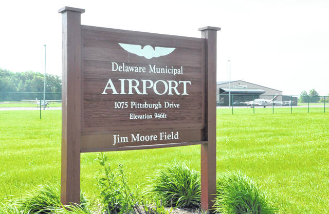 The Delaware Municipal Airport - Jim Moore Field is located at 1075 Pittsburgh Drive on the city's southwest side.