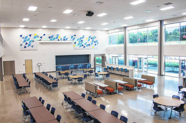 The lunchroom area at the Delaware Area Career Center Thursday.