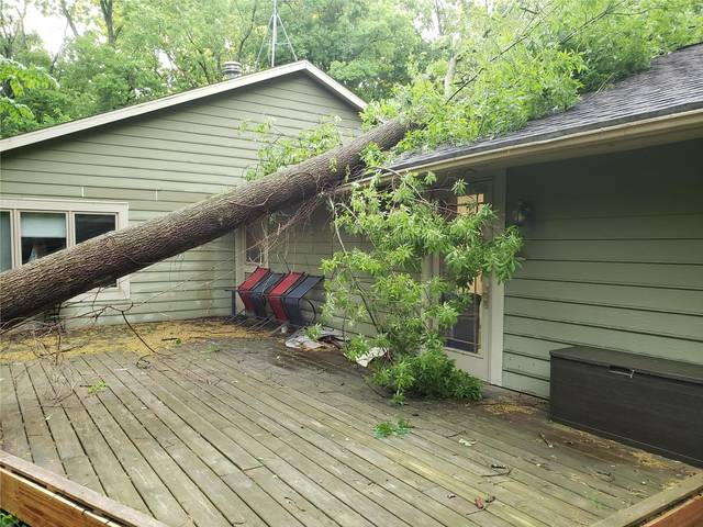 A tree recently fell on the roof of Preservation Parks of Delaware County's district office at Hogback Ridge.