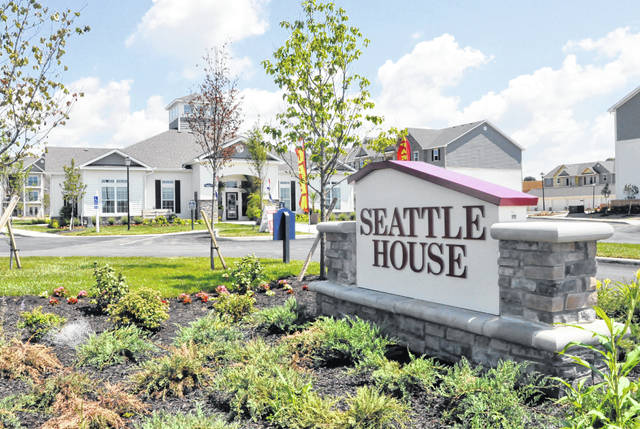 Located across from Glennwood Commons on the east side of Delaware, Seattle House offers one- and two-bedroom apartments. The developer of the 240-unit complex, which is located at 1 Kerry Park Place, has accused the City of Delaware of housing discrimination.