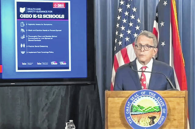 On Thursday, Ohio Gov. Mike DeWine announced a set of guidelines for school districts to consider as they make plans to return fo the 2020-2021 school year.