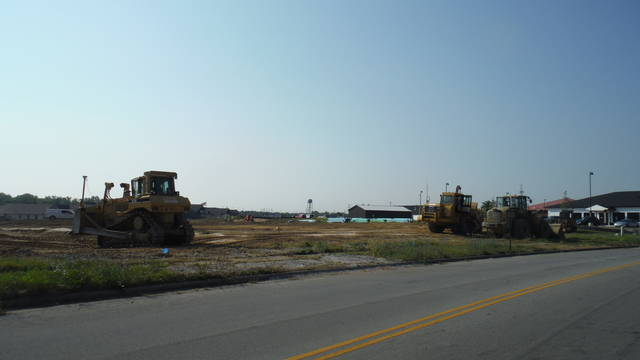 Dirt is being moved near the Inn at Walnut Creek in Sunbury for new homes.