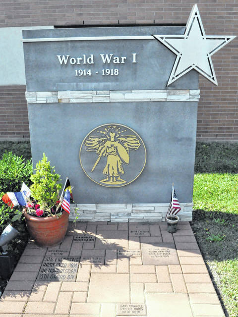 The World War I memorial at Veterans Memorial Plaza in Delaware now contains a brick honoring John Carroll. The plaza is located adjacent to the Delaware Community Center YMCA and the Ohio Army National Guard Readiness Center on South Houk Road.