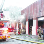 Fire damages building in industrial park