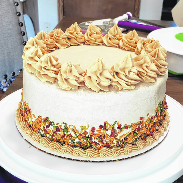 Pictured is Jacy Mox's prize-winning pumpkin spice cake with cinnamon buttercream icing.
