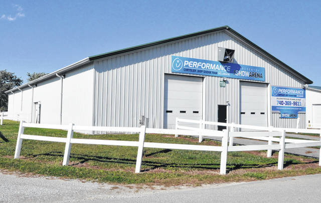 Pictured is the Delaware County Junior Fair Show Arena. During previous fairs, the building has hosted the livestock sale. This year, however, the sale will be virtual only due to the COVID-19 pandemic.