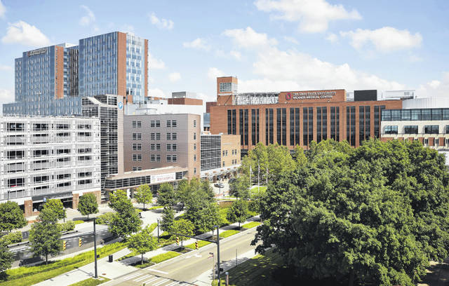 Pictured is The Ohio State University Wexner Medical Center located on West 10th Avenue in Columbus on the OSU campus.