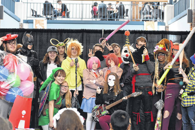 Competitors in the teen division of the cosplay competition pose for a photo after walking the runway during the fourth annual Great GeekFest held last year at the Delaware County District Library in Delaware. The cosplay competition was the main attraction for many attendees as it featured divisions for library staff, children, teens and adults.