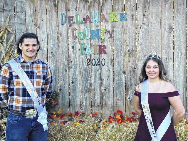Pictured are Delaware County Junior Fair King Cole Wecker and Fair Queen Skyelar Rock.