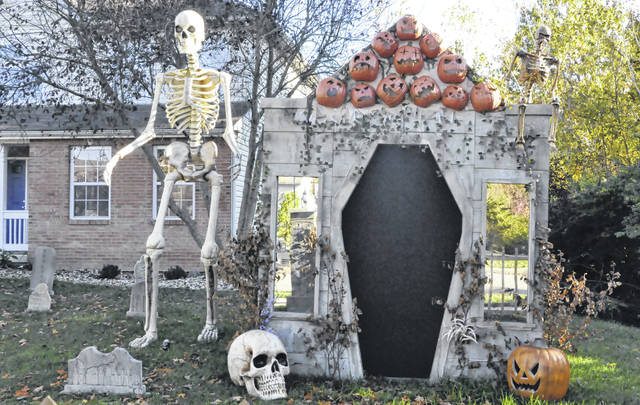 Pictured is part of the Halloween display at 217 Pinecrest Drive in Delaware.