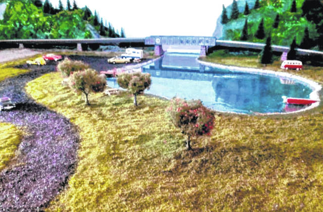 Pictured is a section of the model train set built by Delaware resident Al Roop. The train set will be auctioned off with the proceeds going to People In Need, Inc. of Delaware County.