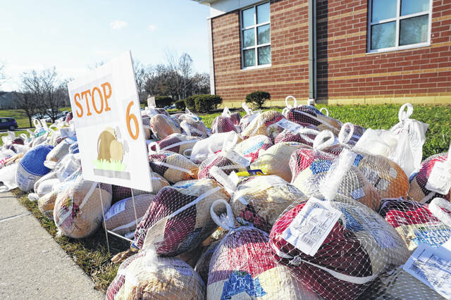 Pictured are some of the turkeys that were handed out during last year's event.