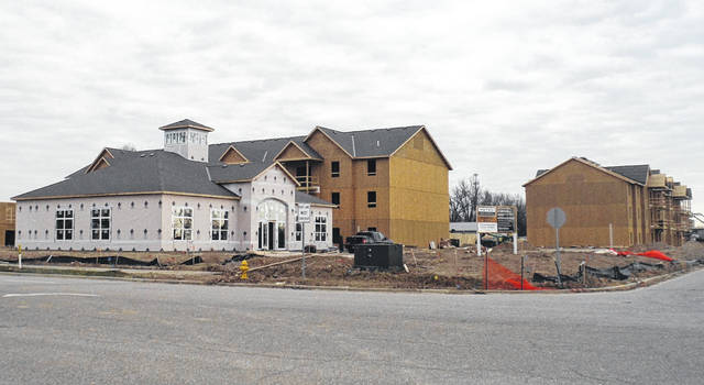 Pictured is Fourwinds Place, an extended-stay hotel currently under construction in Berkshire Township behind the new Chipotle on US Route 36/state Route 37.