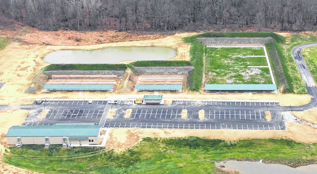 An aerial shot of the recently renovated public shooting range located at 1110 state Route 229 in Ashley.