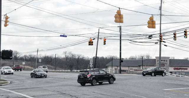Pictured is the intersection at Houk Road and state Route 37 on the west side of Delaware. The traffic signals at the intersection will be addressed as part of the upcoming Citywide Signals Upgrade Phase 1 Project.