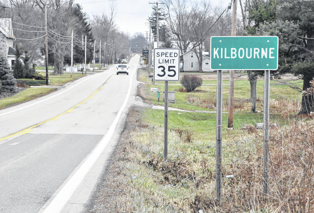 Pictured is the Kilbourne sign that greets drivers as they enter the unincorporated community and head east on state Route 521.