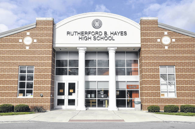 Back in 2013, voters in Delaware approved a 3.6-mill bond issue for Delaware City Schools that allowed the district to expand and renovate every school to accommodate the rapidly growing population in district. Part of the improvements included renovations to the entrance of Rutherford B. Hayes High School.
