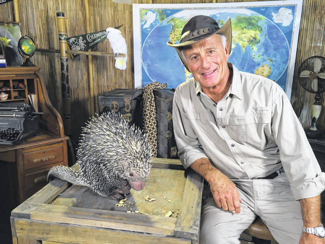 """Jungle Jack Hanna is pictured inside his base camp yurt, which served as one of the filming locations for two of his highly acclaimed television shows: """"Jack Hanna's Into the Wild"""" and """"Jack Hanna's Wild Countdown."""""""
