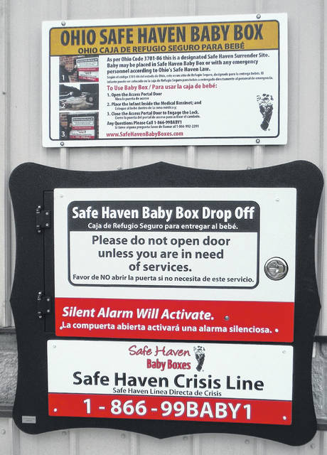 The Safe Haven Baby Box is located on the east side of the BST&G Fire Station 350 at 350 W. Cherry St. in Sunbury.
