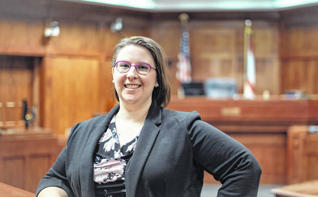 City Prosecutor Amelia Bean-DeFlumer is pictured inside the courtroom at the Delaware Municipal Court.