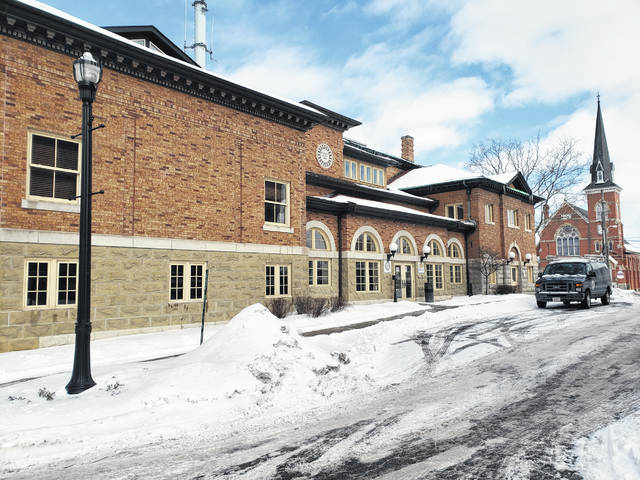 Pictured is the Carnegie Building at 101 N. Sandusky St. in Delaware on Tuesday afternoon after snow blanketed the area. The building is home to to several agencies, including the Delaware County Office of Homeland Security and Emergency Management.