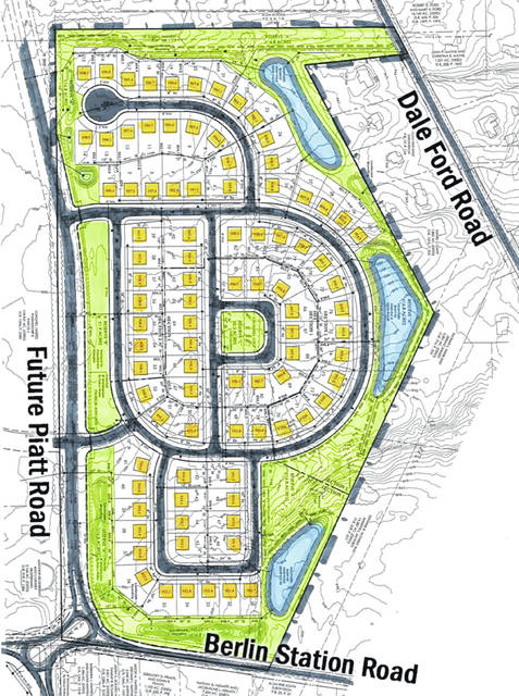 Pictured is the planned layout for Berlin Farms in Berlin Township.