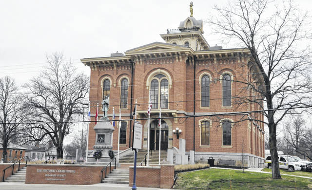 The Historic Courthouse at 91 N. Sandusky St. in downtown Delaware is now home to the Delaware County Board of Commissioners.
