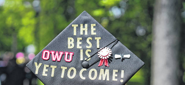 Ohio Wesleyan University will celebrate its classes of 2021 and 2020 with a May 29 commencement ceremony.