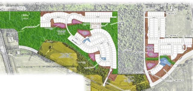 Pictured is the open space plan for Slate Ridge, which is part of the Kerbler Farms development in Orange Township.