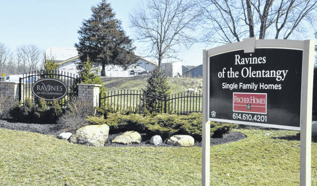 Ravines of the Olentangy, located on the city's southeast side, is one of several subdivisions in Delaware where new homes are currently being built.