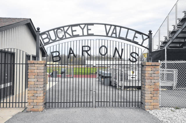Pictured is the main entrance to the stadium at Buckeye Valley High School. The stadium will undergo several renovations and improvements this year.