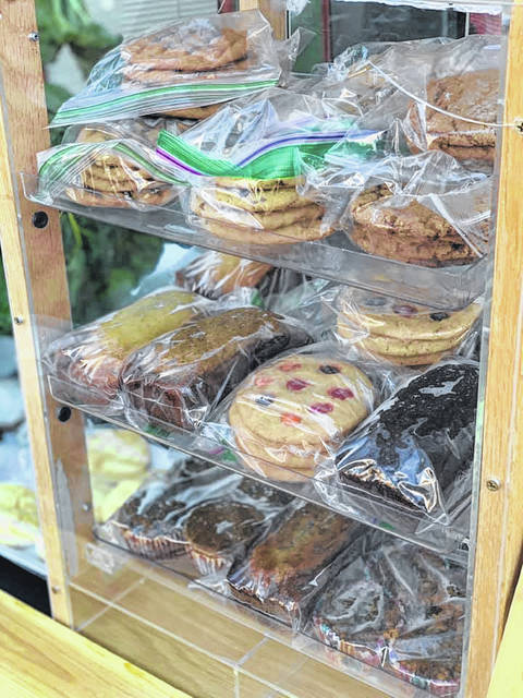 Pictured are some of the baked goods that were available last September during a Main Street Delaware Farmers Market event in downtown Delaware.