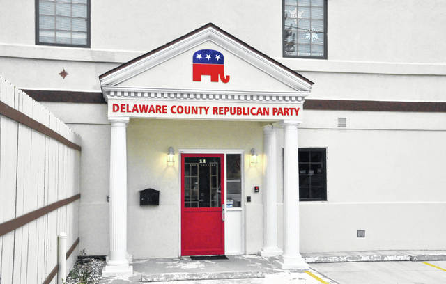 Pictured is the new headquarters for the Delaware County Republican Party. Located at 11 E. Central Ave. in downtown Delaware, the building was previously occupied by a day care.