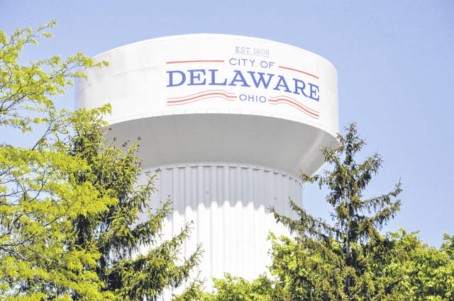 The City of Delaware's London Road water tower received a makeover last year. The 160-foot tower was cleaned, painted and repaired.