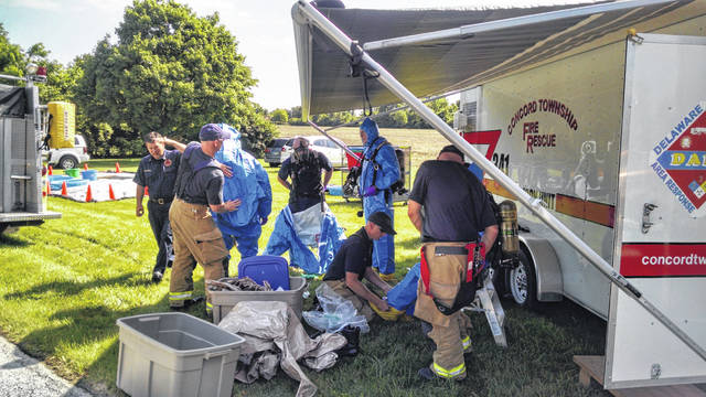 The last full-scale hazardous-materials drill that took place in Delaware County was in 2016.