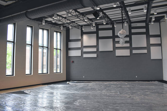 The new orchestra room at Dempsey Middle School nears completion. The room will include practice rooms, a storage room for instruments and equipment, along with an office for staff.