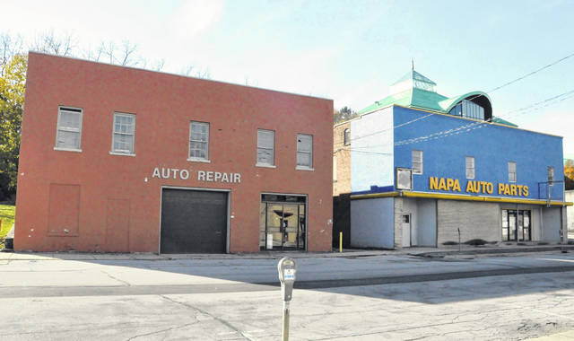Pictured are the vacant buildings at 7 and 27 Spring Street in Delaware. The city-owned structures are set to be razed.