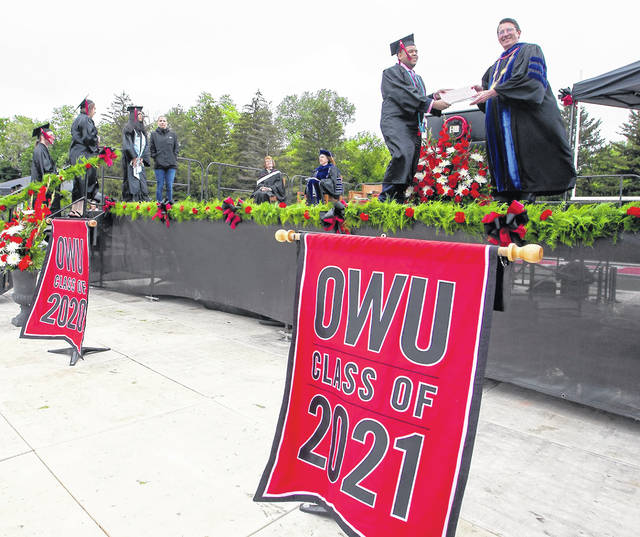 Ohio Wesleyan University celebrated a combined 176th and 177th commencement ceremony May 29 in its historic Selby Stadium.