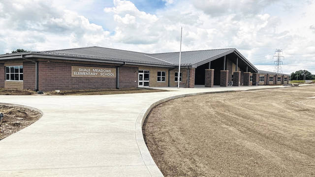 Pictured is the front entrance to Olentangy's Shale Meadows Elementary. Located at 4458 North Road in Lewis Center, the school is set to welcome students for the upcoming school year.