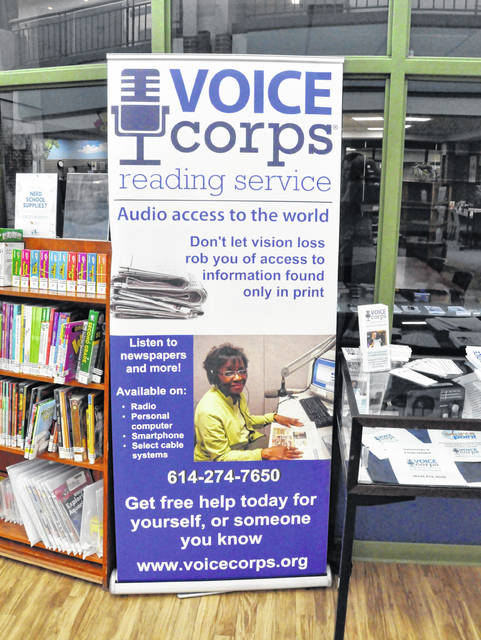 Pictured is the new VOICEcorps display at the Delaware Main Library at 84 E. Winter St. in Delaware.