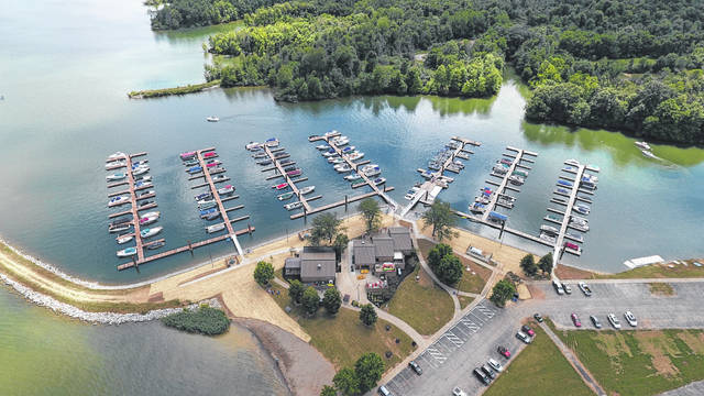 Pictured is Alum Creek Marina at 4000 Hollenback Road in Lewis Center.