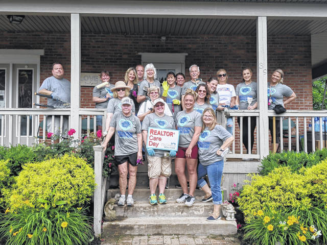 Pictured are the realtors and affilitate members of the Delaware County Board of Realtors who took part in REALTOR® Care Day on June 9. The group spent the day volunteering at the Family Promise House in Delaware.