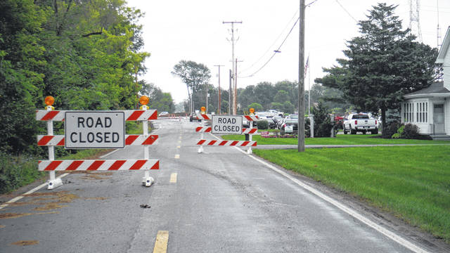 Peachblow Road is scheduled to reopen Saturday following the installation of a new roundabout.