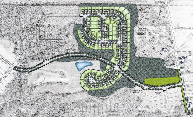 Pictured is an illustrative site plan for sections 4 and 5 of the Terra Alta subdivision.