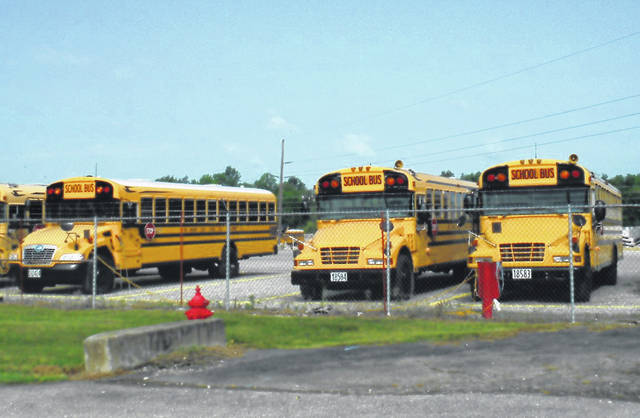 Big Walnut stores its buses near Prairie Run Elementary and the new high school.