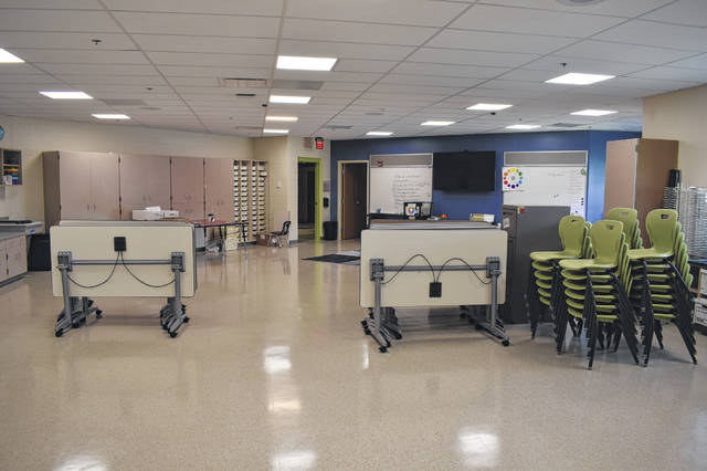One of the new art rooms at Schultz Elementary sits completed Thursday ahead of the 2021-2022 school year. The front of the school was also renovated, and the old office was expanded.