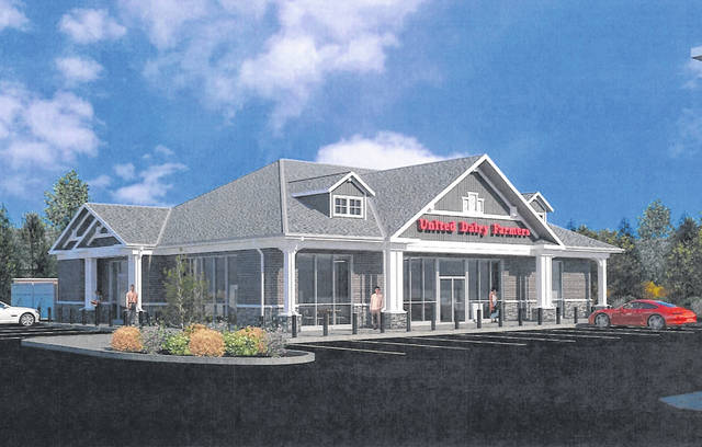 Pictured is a rendering of the proposed new United Dairy Farmers store to be built at the site of the company's current location at the corner of West William and South Liberty streets in Delaware.